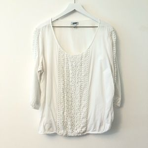 2FOR15 🌴 Old Navy Lace Crochet Scoop Neck Top XL